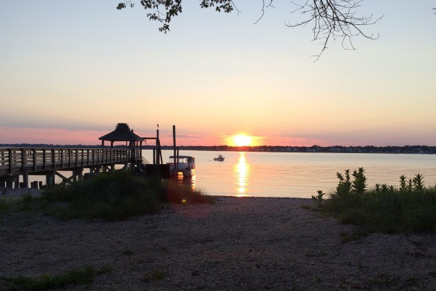 Sunset on Shefield Island